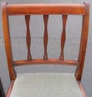 Set of Six Rail Back Dining Chairs